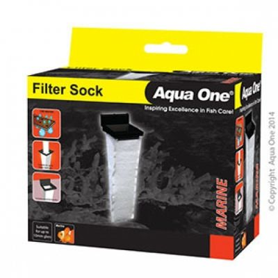 Aqua one filter sock 10cmx10cmx37cm deep with bracket