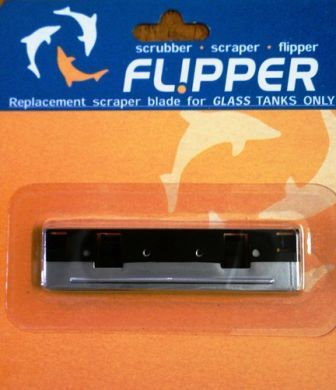 Flipper Stainless steel blades are for glass aquariums only (2 pack)
