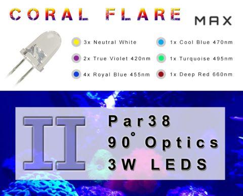 Coral Flare Max II full spectrum PAR38 reef lamp