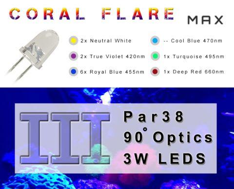 Coral Flare Max III - full spectrum PAR38 reef lamp