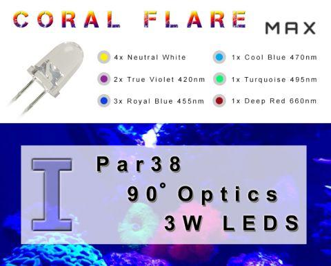 Coral Flare Max I - full spectrum PAR38 reef lamp