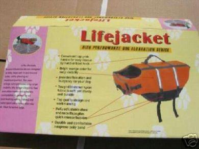 Suprem Aqua Dog Reflective Life Jacket Size L 40cm