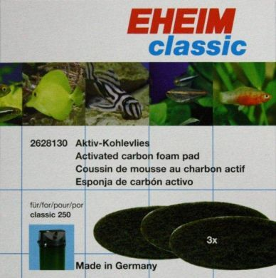 Eheim Classic 250 Carbon Filter Pads (3pk) 2628130