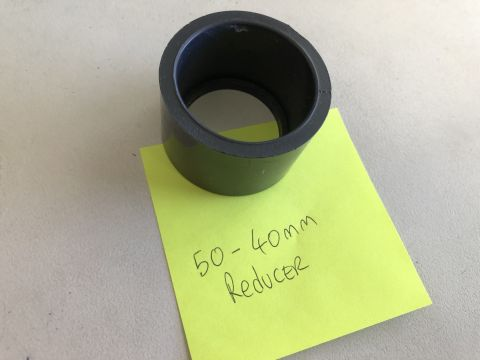 50MM TO 40MM push in reducer