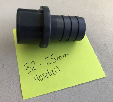 32MM TO 25MM BARBED HOSETAIL ADAPTER
