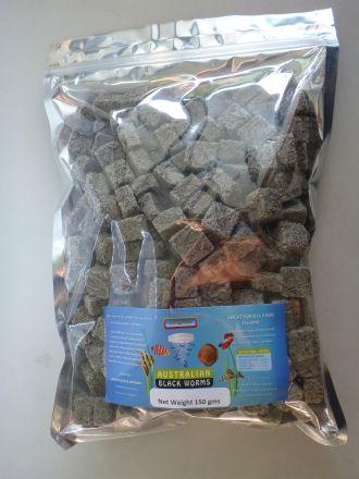 Freeze dried blackworm cubes 150g