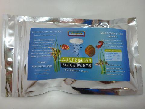 Freeze dried blackworm cubes 10g