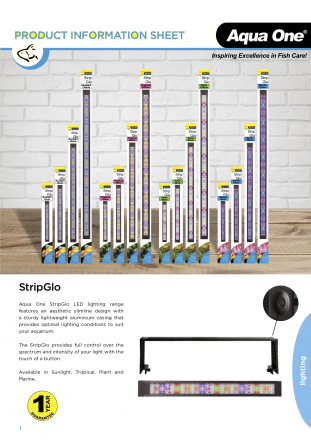 Aqua One Strip Glo Marine LED Reflector 60cm 17.5w