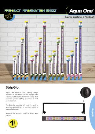 Aqua One Strip Glo Tropical LED Reflector 45cm 17.5w