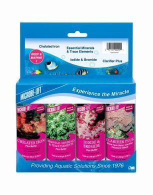 Microbe Lift Reef & Marine Starter Kit #1 118ml x 4