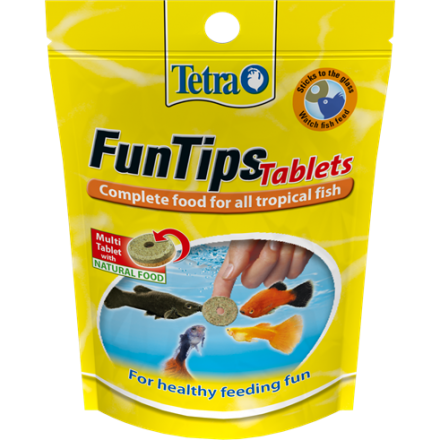 Tetra Fun Tips tablet food 30gm (75 tablets)