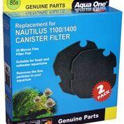 Aqua one Nautilus 1100/1400 Sponge Cartridge 35ppi black 85s