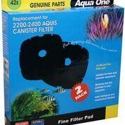 Aqua One /Nautilus 2700/Aquis 2200/2400 Sponge pad 35ppi 2pk 42s