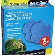 Aqua one Nautilus 600/800 Sponge Cartridge 15ppi blue 81s